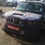 2014 Mahindra Scorpio facelift spyshot front