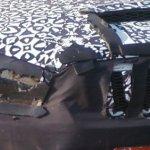 2014 Mahindra Scorpio facelift spyshot grille