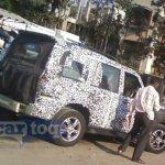 2014 Mahindra Scorpio facelift spyshot rear quarter