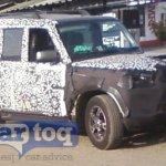2014 Mahindra Scorpio facelift spyshot side