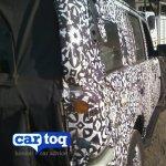 2014 Mahindra Scorpio facelift spyshot taillight