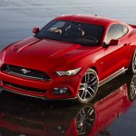 2015 Ford Mustang front three quarters 2 leaked press shot