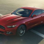 2015 Ford Mustang front three quarters 3 leaked press shot