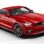 2015 Ford Mustang front three quarters 4 leaked press shot
