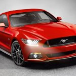 2015 Ford Mustang front three quarters leaked press shot
