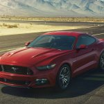 2015 Ford Mustang front three quarters right leaked press shot