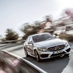 2015 Mercedes C-Class AMG Line Avantgarde front in motion