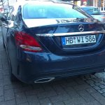 2015 Mercedes C-class real world images rear left