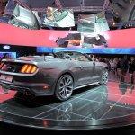 2015 Mustang Convertible live rear three quarter