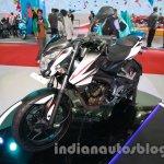 Bajaj Pulsar 200NS Metallic white and Ebony black dual tone colour at Auto Expo 2014