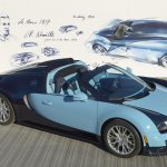 Bugatti Veyron Jean-Pierre Wimille sketch