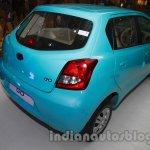 Datsun Go Delhi Roadshow rear three quarter