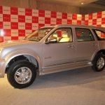 India-made Isuzu MU-7 front three quarters right