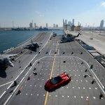 Lamborghini Veneno Roadster World Premiere Naval carrier