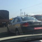 Refreshed Fiat Linea spotted
