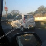 Spied Tata Nano Diesel rear three quarter