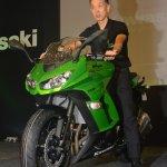 Yuji Horiuchi, Managing Director India Kawasaki Motors Pvt Ltd launches the Kawasaki Ninja 1000 in India in Pune