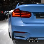 2014 BMW M3 at 2014 NAIAS exhaust