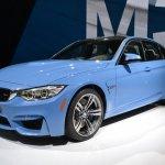2014 BMW M3 at 2014 NAIAS front quarter