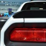 2014 Dodge Challenger Mopar spoiler detail at NAIAS 2014