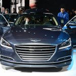 2014 Hyundai Genesis at 2014 NAIAS front doors open