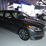 2014 Hyundai Genesis at 2014 NAIAS front quarter right