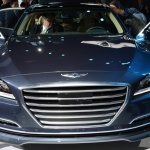 2014 Hyundai Genesis at 2014 NAIAS grille