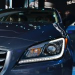 2014 Hyundai Genesis at 2014 NAIAS headlights