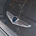 2014 Hyundai Genesis at 2014 NAIAS logo