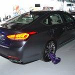 2014 Hyundai Genesis at 2014 NAIAS rear quarter right