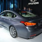 2014 Hyundai Genesis at 2014 NAIAS rear three quarter