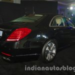2014 Mercedes Benz S Class launch images rear three quarter black