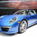 2014 Porsche 911 Targa at 2014 NAIAS front quarter
