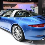 2014 Porsche 911 Targa at 2014 NAIAS rear quarter