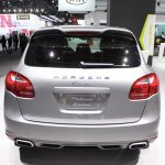 2014 Porsche Cayenne Platinum Edition rear at NAIAS 2014