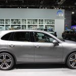 2014 Porsche Cayenne Platinum Edition side at NAIAS 2014