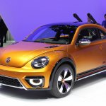 2014 VW Beetle Dune Concept at 2014 NAIAS front quarter