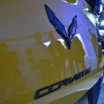 2015 Corvette Z06 Corvette badge at NAIAS 2014