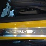 2015 Corvette Z06 door sill at NAIAS 2014