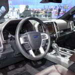 2015 Ford F-150 dash driver side at NAIAS 2014