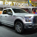 2015 Ford F-150 front three quarters left at NAIAS 2014