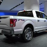 2015 Ford F-150 rear three quarters angle at NAIAS 2014