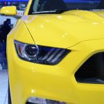 2015 Ford Mustang GT at 2014 NAIAS headlight 3