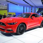 2015 Ford Mustang GT red front three quarters right at NAIAS 2014