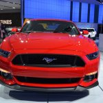 2015 Ford Mustang GT red front view at NAIAS 2014