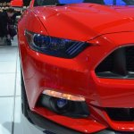 2015 Ford Mustang GT red headlamp and foglamp at NAIAS 2014