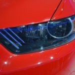 2015 Ford Mustang GT red headlamp at NAIAS 2014