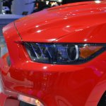 2015 Ford Mustang GT red headlight at NAIAS 2014