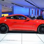 2015 Ford Mustang GT red side view at NAIAS 2014