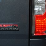 2015 GMC Canyon badge at NAIAS 2014